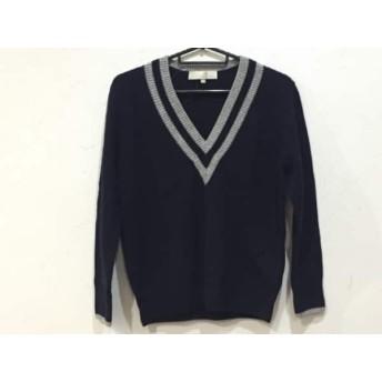 【中古】 ジユウク 自由区/jiyuku 長袖セーター サイズ32 XS レディース ネイビー グレー