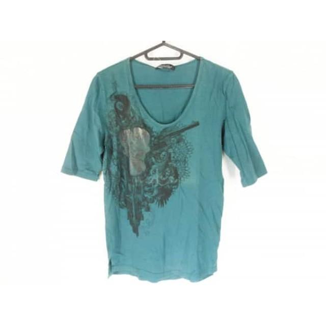 【中古】 トルネードマート TORNADO MART 半袖Tシャツ サイズM メンズ ライトグレー 黒