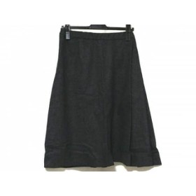 【中古】 エルマノシェルビーノ ERMANNO SCERVINO スカート サイズ40 M レディース ダークグレー ウール