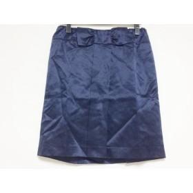 【中古】 カオン kaon スカート サイズF レディース ネイビー