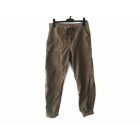 【中古】 ウィムガゼット whim gazette パンツ サイズ38 M レディース ダークブラウン ウェストゴム