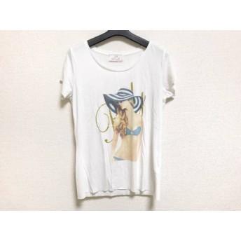 【中古】 レディ Rady 半袖Tシャツ サイズF レディース 白 マルチ ラメ
