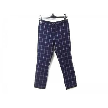 【中古】 ノーブランド パンツ サイズ36 S レディース ブラック ホワイト(チェック柄)