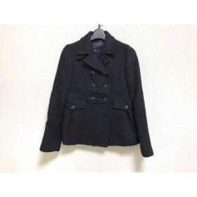 【中古】 マカフィ MACPHEE コート サイズ38 M レディース 美品 黒 冬物