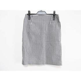 【中古】 シンプリシティエ simplicite スカート サイズ36 S レディース 白 黒