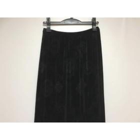 【中古】 イタリヤ 伊太利屋/GKITALIYA スカート サイズ7 S レディース 美品 黒 ラインストーン
