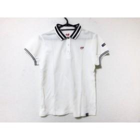 【中古】 マスターバニーエディション 半袖ポロシャツ サイズ2 M レディース 美品 白 ネイビー