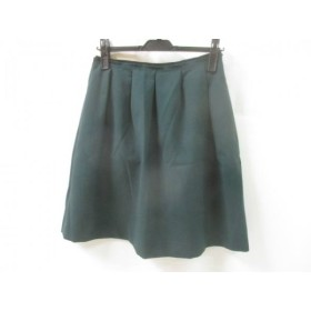 【中古】 ボールジー BALLSEY ミニスカート サイズ38 M レディース ダークグリーン ブラック