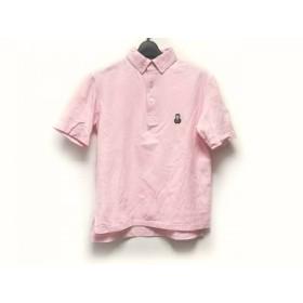 【中古】 サイコバニー PsychoBunny 半袖ポロシャツ サイズM レディース ピンク うさぎ