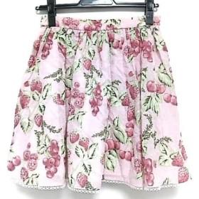 【中古】 ミルク MILK スカート レディース ピンク レッド グリーン ベリー