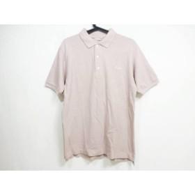 【中古】 パパス Papas 半袖ポロシャツ サイズL メンズ ピンクグレー