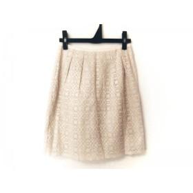 【中古】 ニジュウサンク 23区 スカート サイズ32 XS レディース アイボリー 刺繍