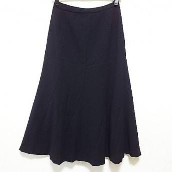 【中古】レリアン Leilian ロングスカート サイズ9 M レディース 黒 エスカルゴ