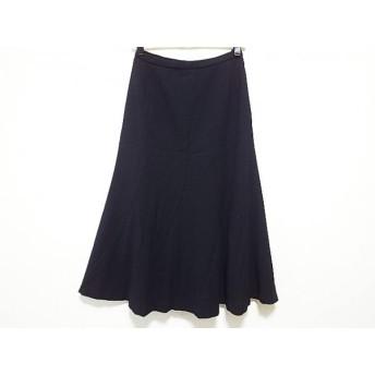 【中古】 レリアン Leilian ロングスカート サイズ9 M レディース 黒 エスカルゴ