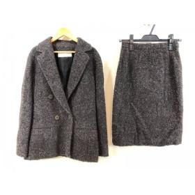 【中古】 ジェニー GENNY スカートスーツ サイズ40(I) M レディース ダークグレー グレー ブラウン