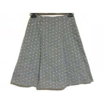 【中古】 ランバンコレクション LANVIN COLLECTION スカート サイズ38 M レディース グレー 黒 イエロー