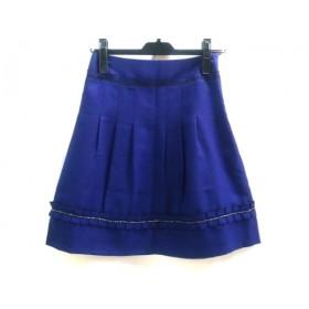 【中古】 ノーブランド スカート サイズO レディース 青