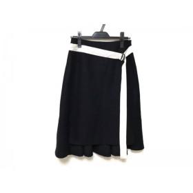 【中古】 アドーア ADORE スカート サイズ38 M レディース 黒 白 ベルト
