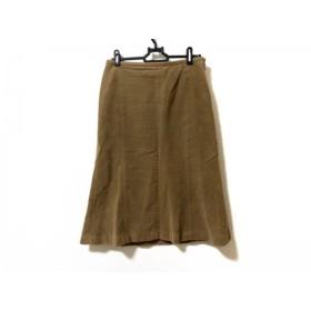【中古】 バーバリーロンドン Burberry LONDON スカート サイズ38 L レディース ダークブラウン