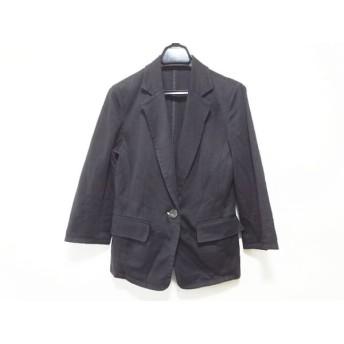 【中古】 ヴァンドゥ オクトーブル 22OCTOBRE ジャケット サイズ38 M レディース 黒
