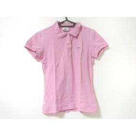 【中古】 ラコステ Lacoste 半袖ポロシャツ サイズ38 M レディース ピンク
