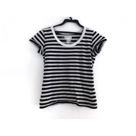 【中古】 アニエスベー agnes b 半袖Tシャツ レディース ライトグレー 黒 ボーダー
