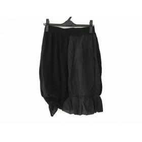 【中古】 エムアンドキョウコ スカート サイズ1 S レディース 黒 ウエストゴム/タグ付き