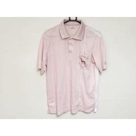 【中古】 アダバット Adabat 半袖ポロシャツ サイズ46 XL メンズ ピンク