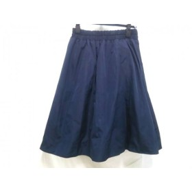 【中古】 ノーブランド スカート サイズ36 S レディース ネイビー マルチ