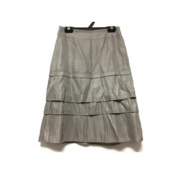 【中古】 ニジュウサンク 23区 スカート サイズ30 XS レディース グレー vingt-trois arrondissements