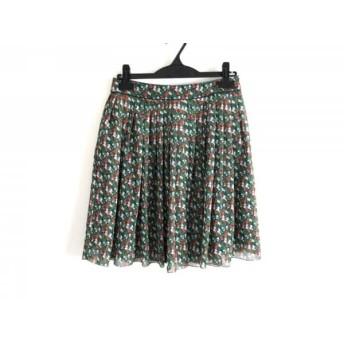 【中古】 マッキントッシュフィロソフィー スカート サイズ38 L レディース グリーン マルチ 花柄