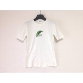 【中古】 ケンゾー KENZO 半袖Tシャツ レディース 白 グリーン