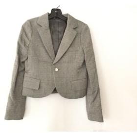 【中古】 ディスコバレー ジャケット サイズF レディース 美品 グレー ライトグレー レッド