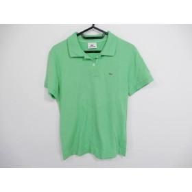【中古】 ラコステ Lacoste 半袖ポロシャツ サイズ44 L レディース ライトグリーン