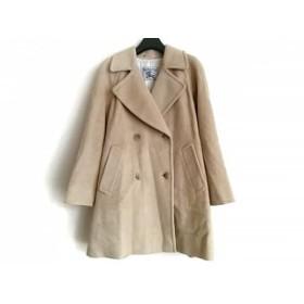 【中古】 バーバリーズ Burberry's コート サイズ9AR S レディース ベージュ 冬物