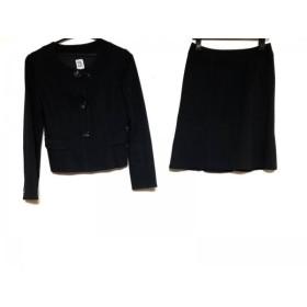 【中古】 ミッシェルクラン MICHELKLEIN スカートスーツ サイズ38 M レディース 黒