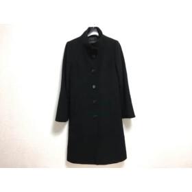 【中古】 ジャスグリッティー JUSGLITTY コート サイズ2 M レディース 黒 冬物