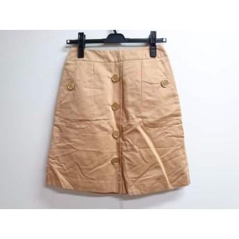 【中古】 ジャスグリッティー JUSGLITTY スカート サイズ1 S レディース ライトブラウン