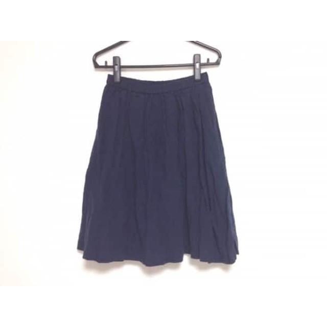 【中古】 ミラオーウェン Mila Owen スカート サイズ0 XS レディース 美品 ダークネイビー