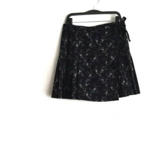 【中古】 アニエスベー agnes b 巻きスカート サイズ1 S レディース ネイビー アイボリー