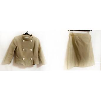 【中古】 ピエールカルダン pierre cardin スカートスーツ サイズ38 M レディース ベージュ