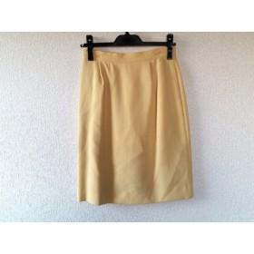 【中古】 フォクシー FOXEY スカート サイズ42 L レディース イエロー