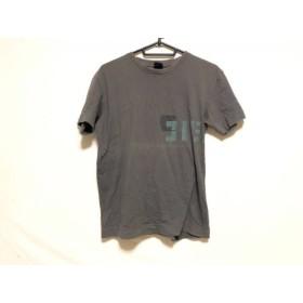 【中古】 ディーゼル DIESEL 半袖Tシャツ サイズM メンズ ダークグレー グリーン