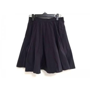 【中古】 ランバンオンブルー LANVIN en Bleu スカート サイズ36 S レディース パープル 黒 ギャザー
