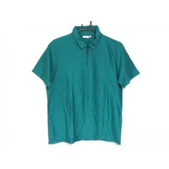 【中古】 カルバンクライン CalvinKlein 半袖ポロシャツ サイズM メンズ グリーン