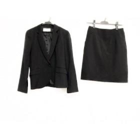 【中古】 プロポーションボディドレッシング スカートスーツ サイズ3 L レディース 黒 グレー