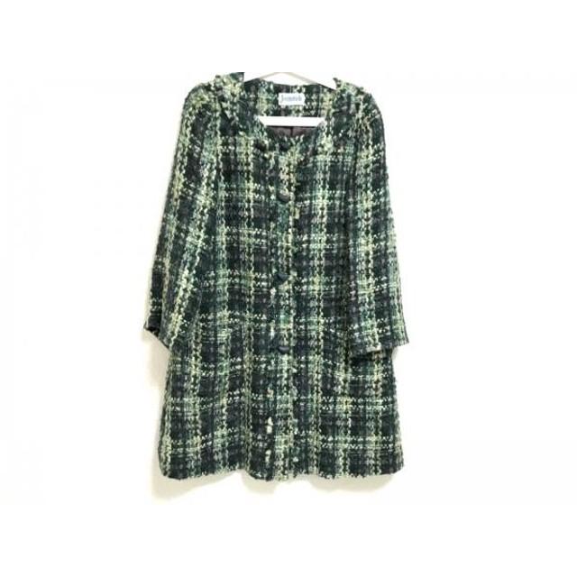 【中古】 ホコモモラ JOCOMOMOLA コート サイズ42 L レディース グリーン ライトグリーン 冬物