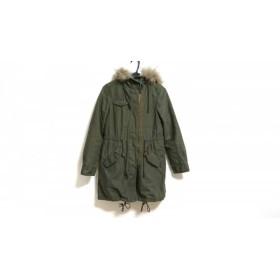 【中古】 グリーンレーベルリラクシング green label relaxing コート サイズ36 S レディース カーキ 冬物