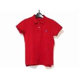 【中古】 ラルフローレン RalphLauren 半袖ポロシャツ サイズL レディース 美品 レッド