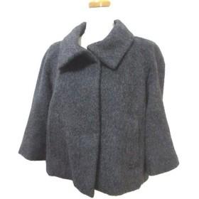 ノーリーズ Nolley's sophi ソフィ コート ショート アルパカ ウール混 9分袖 九分袖 比翼ボタン チャコールグレー 38 LEK X レディース【中古】